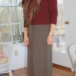 Modest Fashion Friday: Maroon Sweater and Plaid Skirt