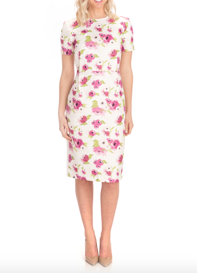 classic floral dress for Easter
