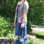 Casual Summer Style in Blue and Gray