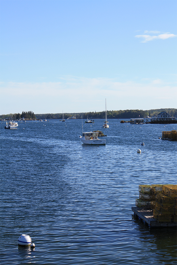 boat in Boothbay Harbor, Maine