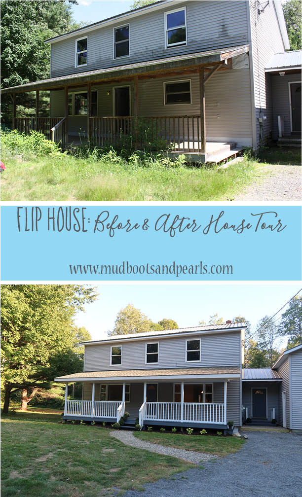 Flip house tour a before and after house tour mud boots for House flips before and after